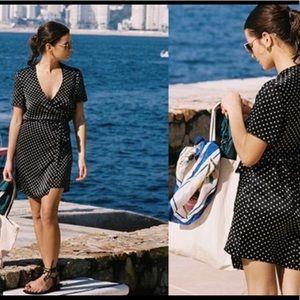 ISO - Ciao Lucia Zia Wrap Dress Polka Dot